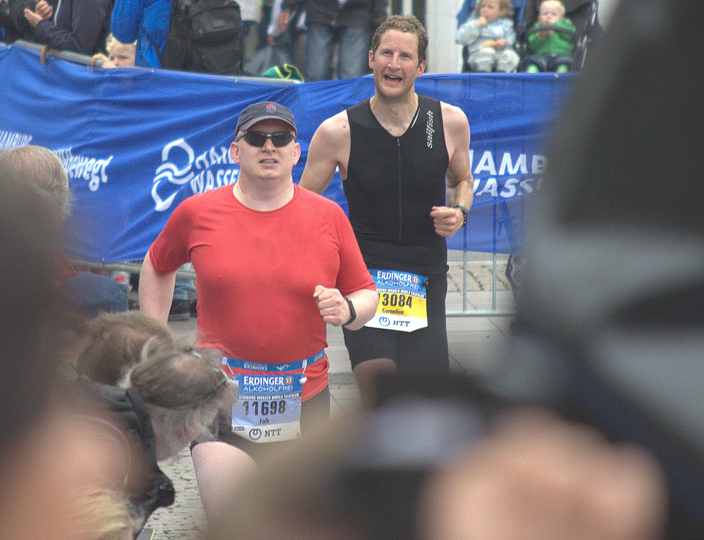Ankunft Hamburg Triathlon 2017